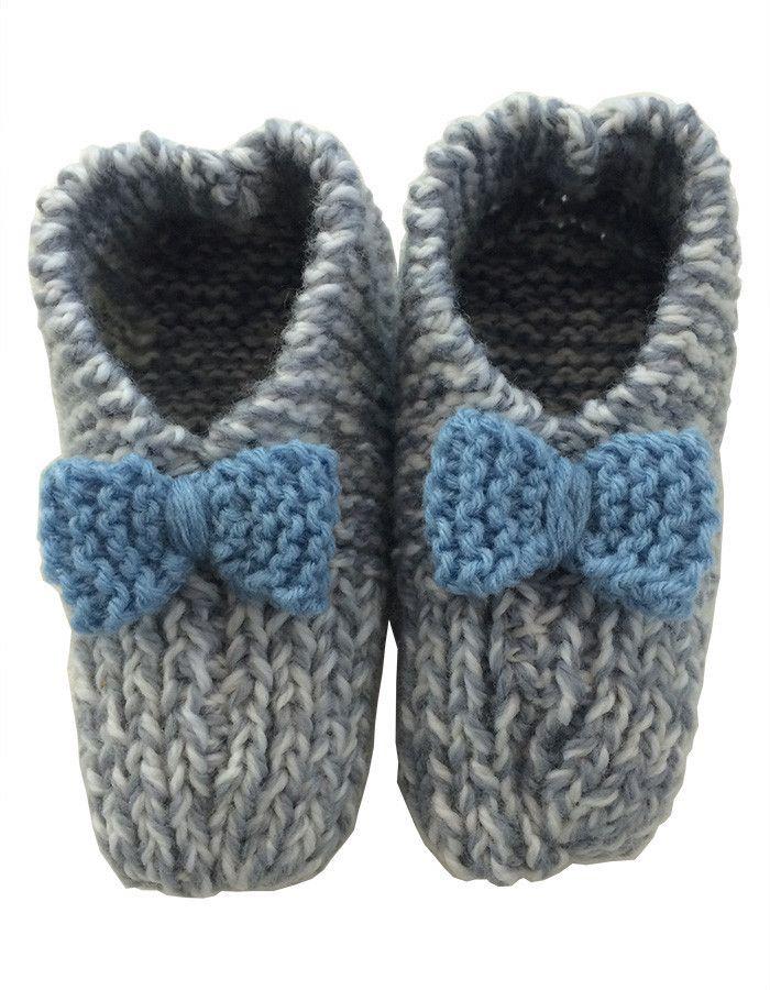 Hand Knitted Slippers Medium
