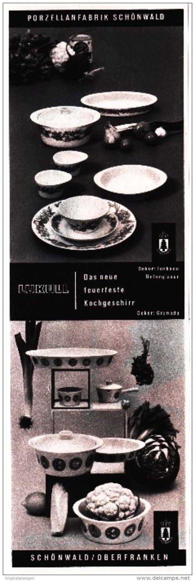 Original-Werbung/ Anzeige 1962 - LUKULL / PORZELLAN SCHÖNWALD - ca. 65 x 220 mm
