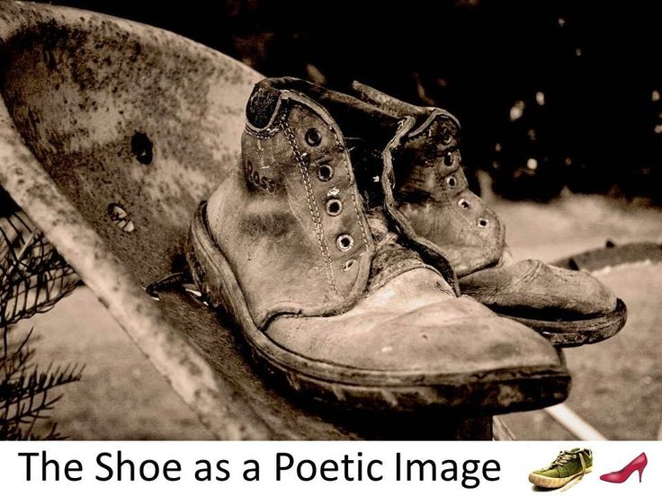 """Shoes """"own"""" a cultural significance, a metaphorical significance."""