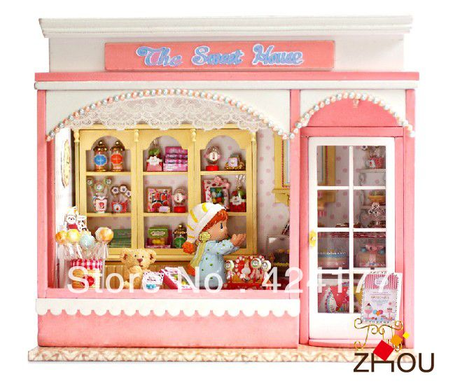 100 best diy dollhouse kits images on pinterest doll houses diy wooden handmade model assembling building toy house light and music dollhouse the sweet house solutioingenieria Images