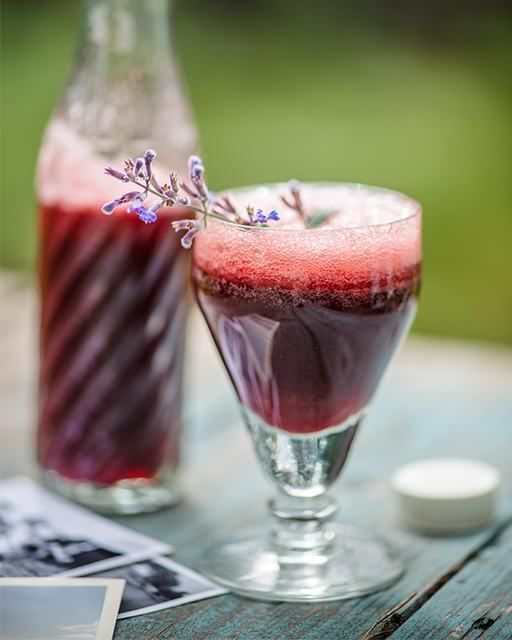 Spiked Cherry Lemonade - cherry, lemon and rum all mixed together in this sunny drink.