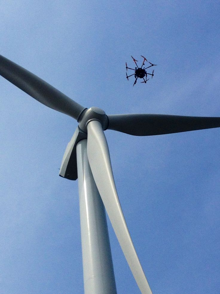 Filming the wind turbines