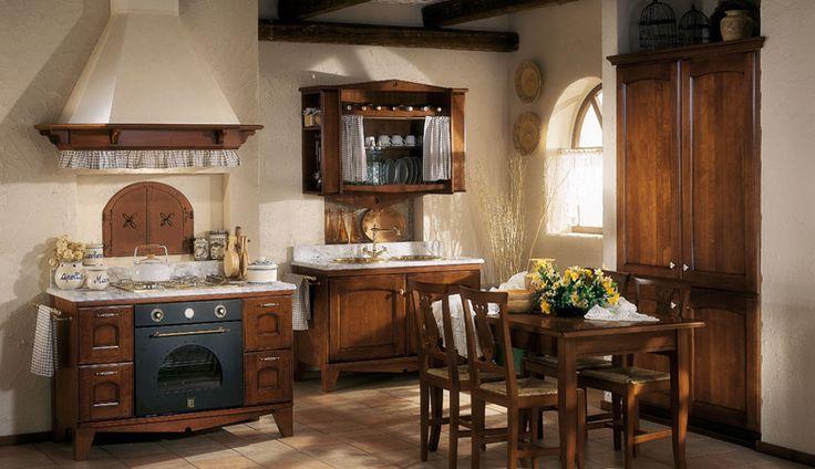 Marta il pregiato legno massello di ciliegio rievoca for Mensole cucina country