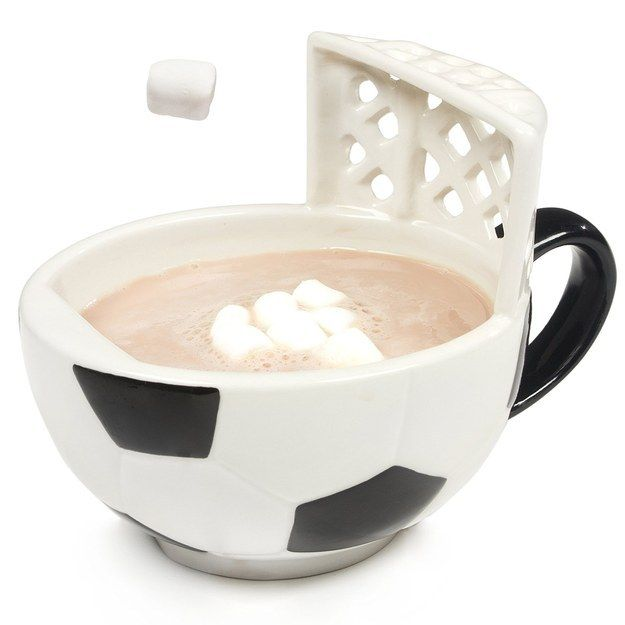 This soccer mug with a goal. | 27 Ridiculously Cool Gifts You Can Still Buy From Amazon