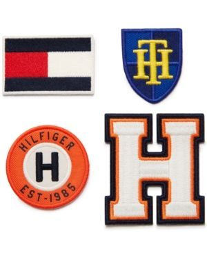 Tommy Hilfiger Iron-On Patches - Orange