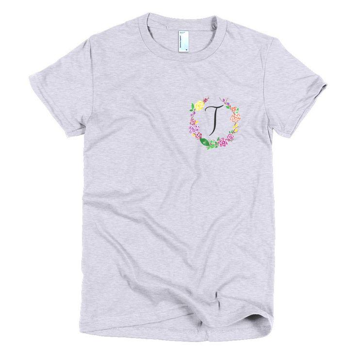 Pocket of Flowers Monogram T-Shirt Letter T