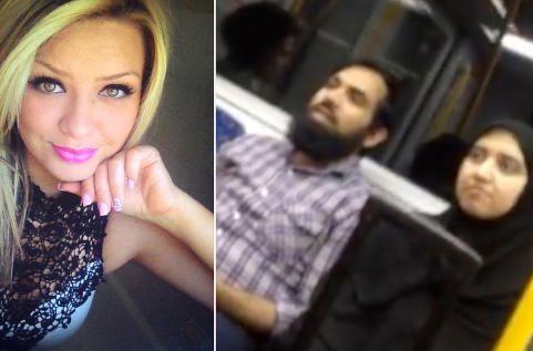 Togpassasjer trakasserer muslimsk kvinne for å bære hijab. Da griper australske Stacey inn