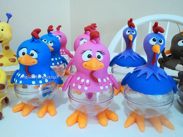 centro de mesa galinha pintadinha aetepaiva@hotmail.com