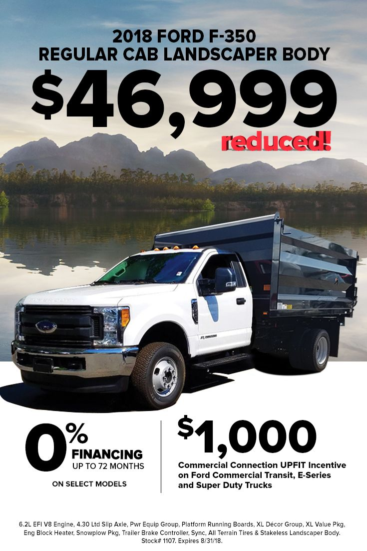 Stop In To Hassett Ford And Drive Off In This New Ford F 350 Regular Cab Landscaper Body For Only 46 999 Certain Res Super Duty Trucks Used Ford Regular Cab