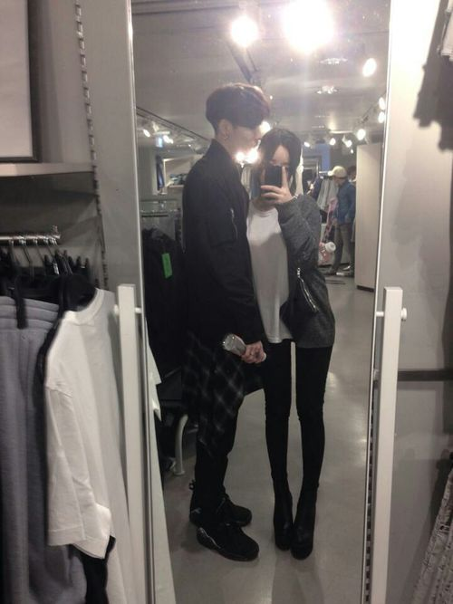 couple, korean, and ulzzang image