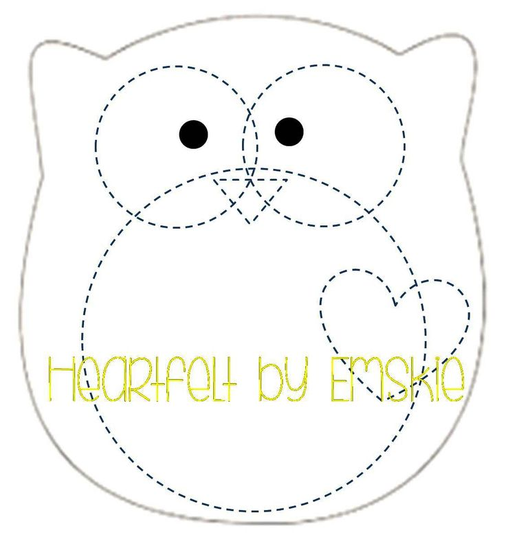 Plushie owl template felt sewing pinterest for Felt plushie templates