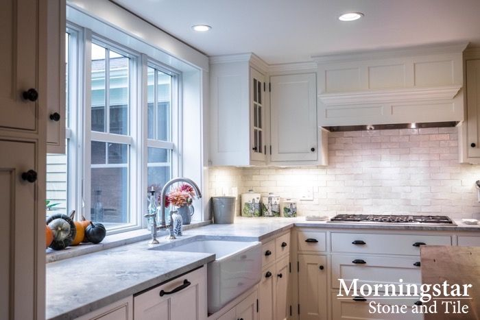 Freeport Maine Kitchen With Custom Granite Countertops (Wicked White  Granite) | Maine Kitchens By Morningstar | Pinterest | White Granite, ...