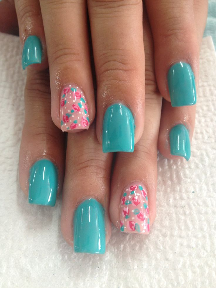 Flowers and turquoise