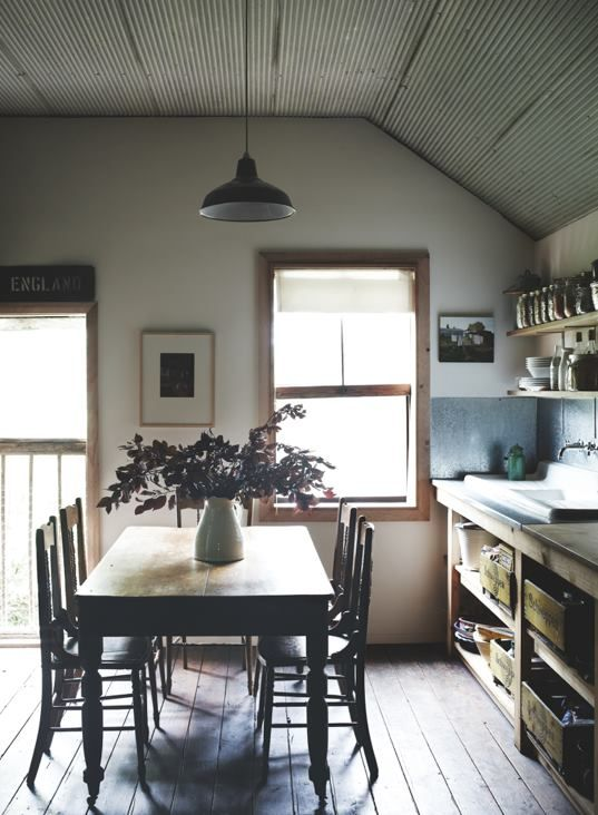 Australian Country Style Magazine! I love this kitchen, especially the zinc behind the sink!