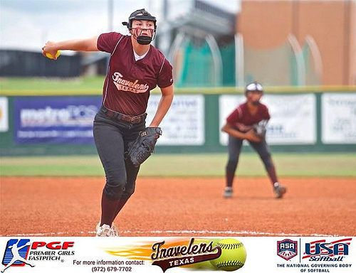 https://flic.kr/p/VExMr3 | MaKynli Miller | MaKynli Miller, Pitcher for the Texas Travelers Gold uses her different pitches to keep the batters off balance and be more effective on the mound. MaKynli had a WHIP of 0.550 during the OKC Challenge helping the Texas Travelers Gold Elite Softball Team with a Runner Up finish out of 52 teams.