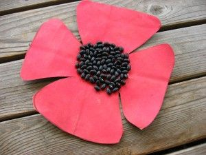 Poppy Craft for Remembrance Day and Veteran's Day