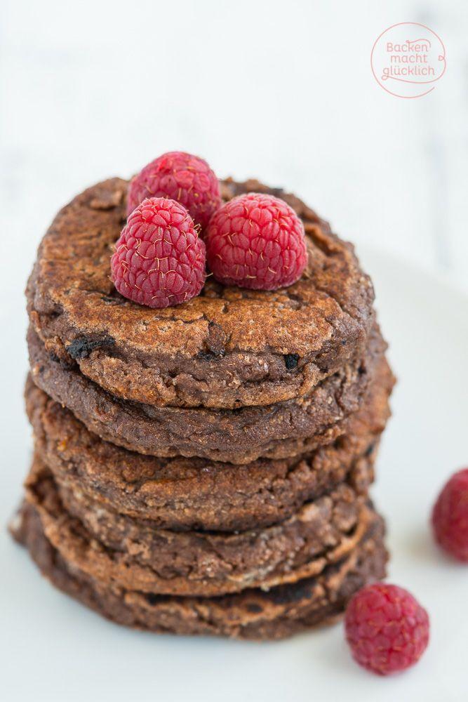 Chocolate Pancakes: Low Carb, ohne Gluten und Zucker, dafür extrem lecker und ein bisschen wie Cookie Dough