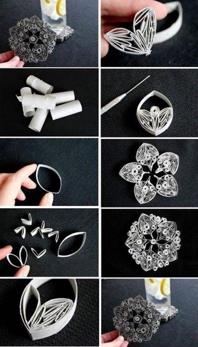 Tubos de papel tornam-se lindas mandalas cheias de detalhes                                                                                                                                                                                 Más
