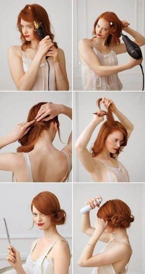 Einfache Frisuren für mittellange Haare-3