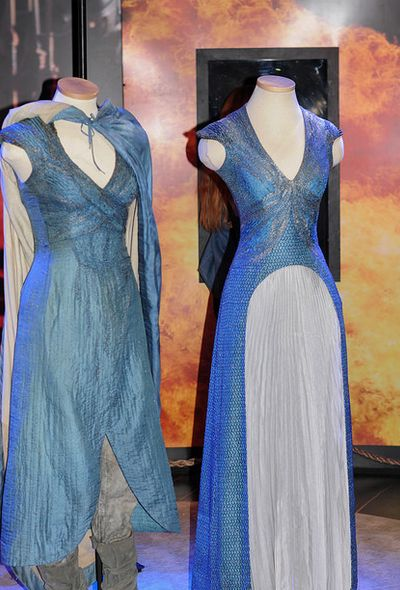 "From ""Game of Thrones"" worn by Emilia Clarke as Daenerys Targaryen design by…"
