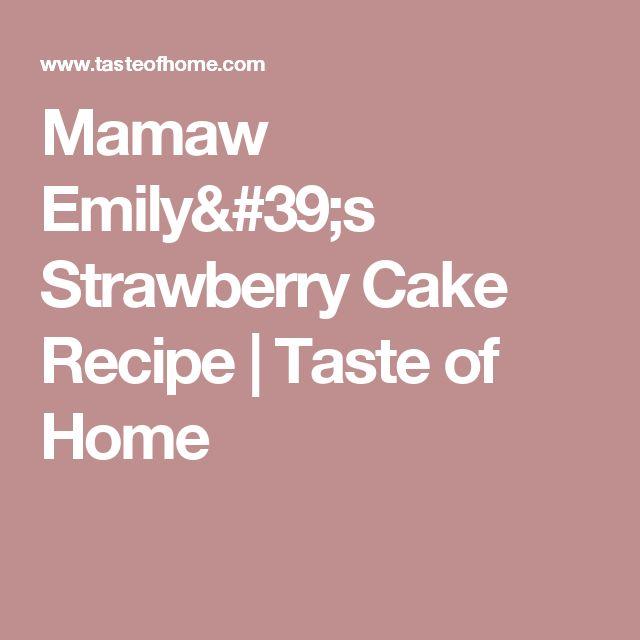 Cake Taste Recipes