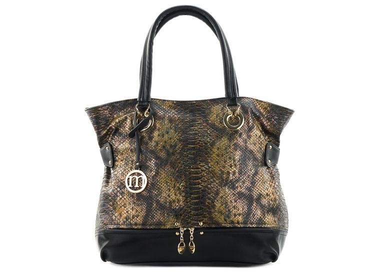 handbag monnari, snake torebka damska, worek, monnari, skóra węża