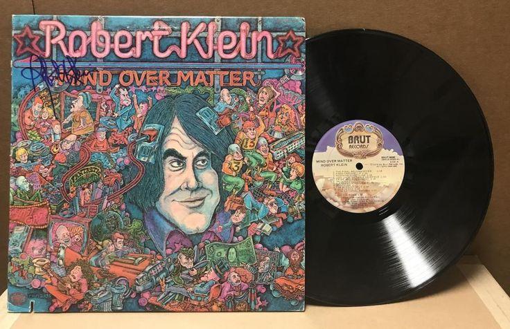 """ROBERT KLEIN COMEDIAN """"MIND OVER MIND"""" SIGNED VINYL LP RECORD"""
