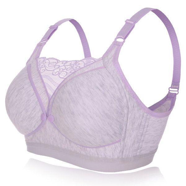 Cotton Posture Corrector Breathable Lace Bando Nursing Bra
