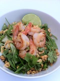Bun Tom Heo Nuong - Noedels met gegrilde garnalen en nuoc cham