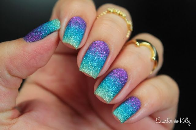Esmaltes da Kelly: Gradiente com Zoya Pixie Dust