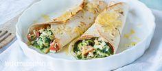 Romige spinazie wraps            Hoofdgerecht  40 min + 5 oventijd  10 stuks  ** Krokant gegratineerde wraps met een romige vulling van spinazie, kip en tomaatjes     Ingrediënten 600 gr kip 250 gr ch