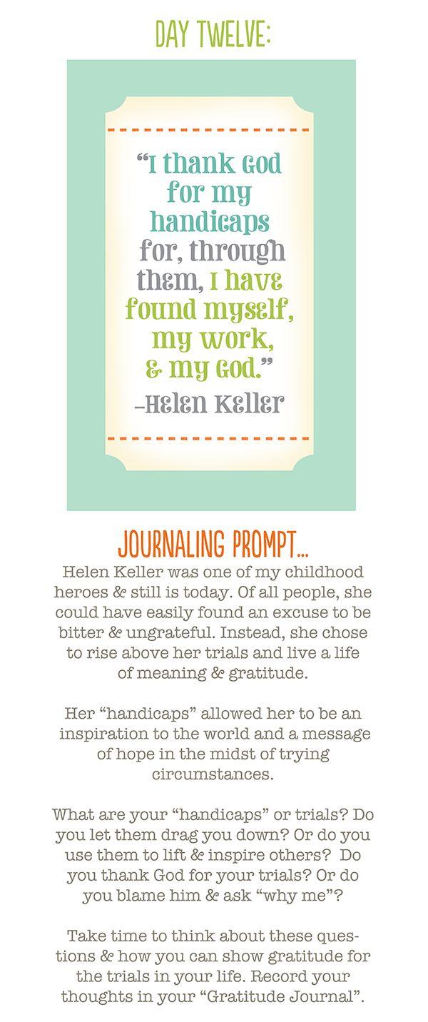 Helen keller study journal essay