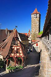 rothenburg ob der Tauber, Germany -- surrounded by city wall. Home of Torture Museum