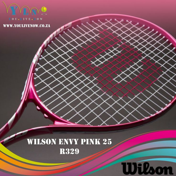 The Wilson Envy Pink 25 is a pink junior racquet for girls from 8 years of age up to a height of 140cm. The racket impresses with its low weight (220g unstrung) and the large head size (684cm²) that provide ideal playing characteristics and a great handling, which is perfect for young players. The big sweetspot ensures more forgiveness on off- center hits with the result that a rapid sense of achievement is guaranteed. http://www.youlivenow.co.za/wilson-envy-girls-25 