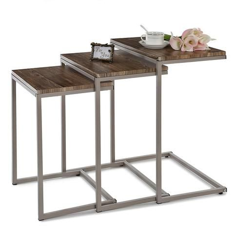 Metal Frame Nesting Console Tables Set (3PCS)