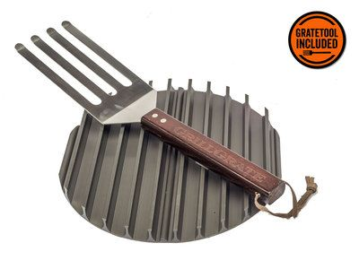 "SkilletGrate transforms any skillet or saute pan 12"" or larger into a grill pan. SkilletGrate offers all of the benefits of traditional GrillGrates"