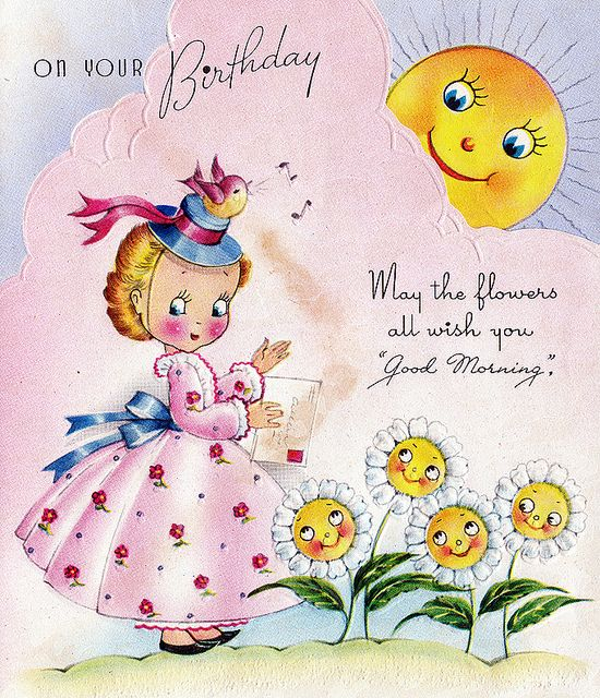 Images Of Vintage Girls First Birthday Card: 1842 Best Vintage Birthday Greeting Cards Images On