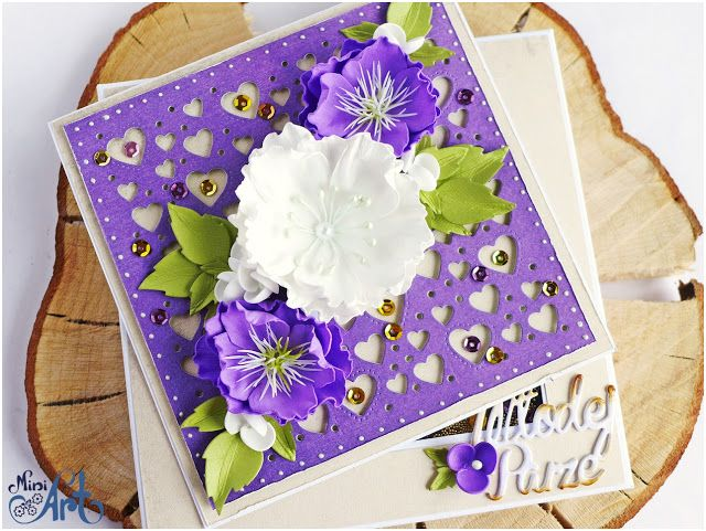 MiniArt - hand made with love: Fiolet na ślub / Purple for wedding - DT Craft Passion