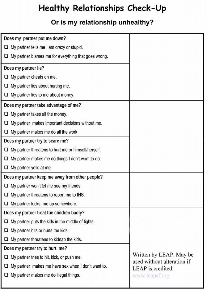 Emotional Wellness Worksheets