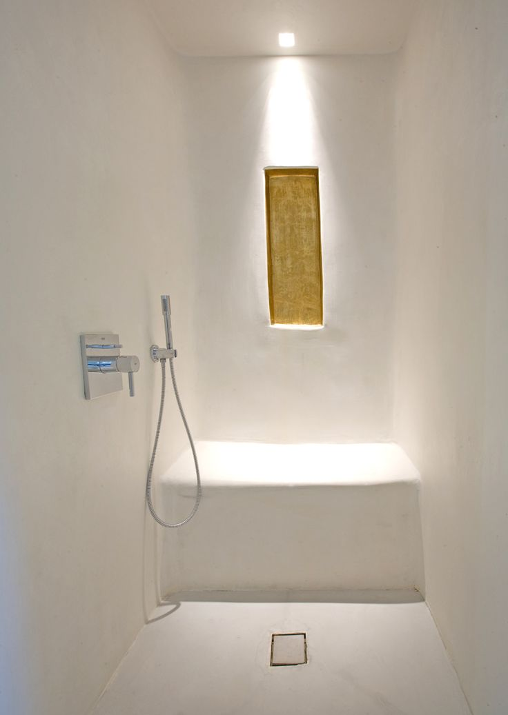 Perfect Tadelakt Shower/wetroom With Built In Seat
