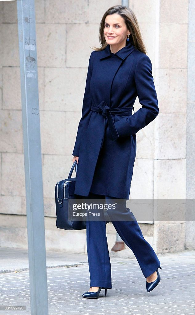 Queen Letizia of Spain arrives to a meeting at the Spanish Association Against Cancer (AECC) on January 10, 2017 in Madrid, Spain.