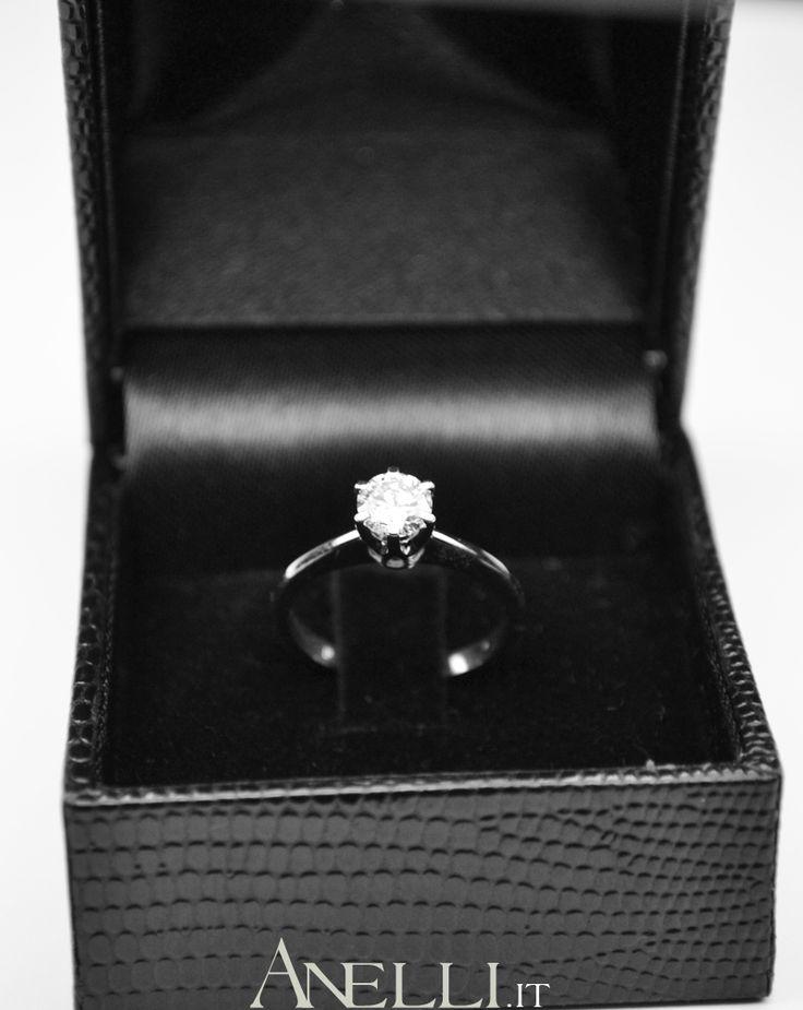 Anello Solitario per la promessa di Matrimonio 0,48 carati colore D purezza IF <3 www.anelli.it <3 info@anelli.it <3 +390637515305 <3 #fidanzaticonnoi #anellosolitario #gioiellimatrimonio