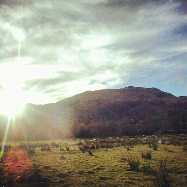 Loch Lomond at sunset.