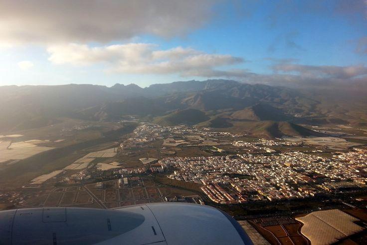'Landeanflug auf GranCanaria' aus dem Reiseblog 'Über Weihnachten auf den Kanaren: Urlaub im Dorado Beach auf Gran Canaria'