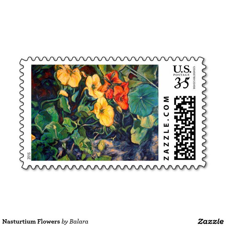 Nasturtium Flowers Postage