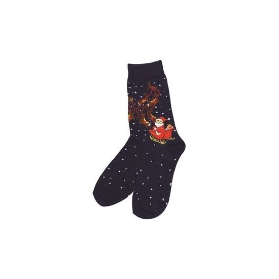 Kerstmis sokken blauw  Blauwe kerstsokken met kerstman. Paar blauwe heren kerstsokken met kerstman in slee print. One size sokken geschikt voor maat 39 - 45.  EUR 4.75  Meer informatie