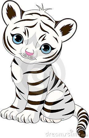Filhote de tigre branco bonito                                                                                                                                                      Mais