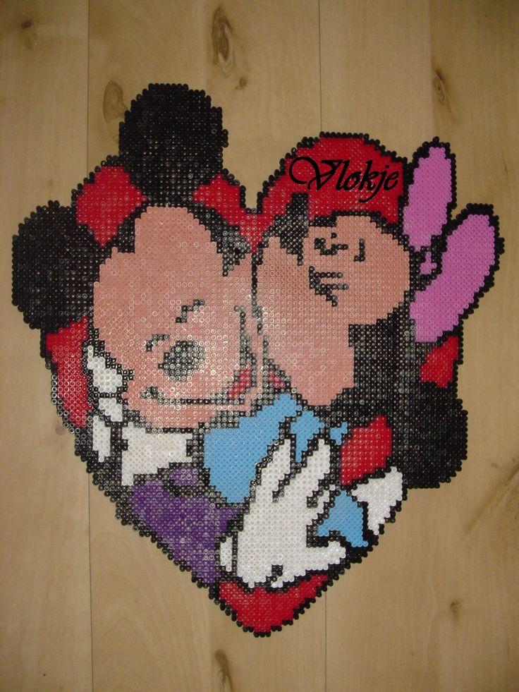Baby Mickey And Friends Hama Perler Beads By Deco Kdo Nat