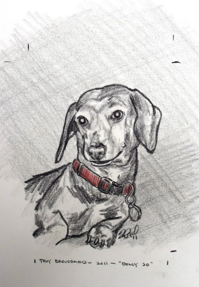 2011 - Dog in a Red Collar (Dolly Jo) by Troy Broussard