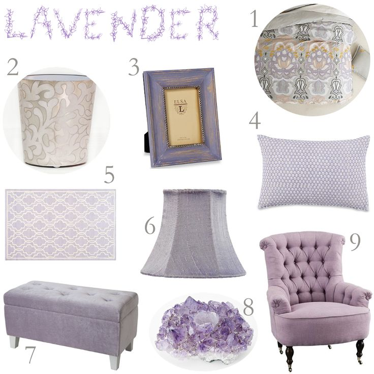 lavender and gray i like the duvet and waste basket